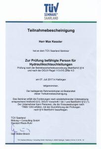 Prüfung nach der Betriebssicherheitsverordnung (BetrSichV) §14